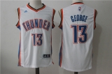 Oklahoma City Thunder #13 Kevin Durant new white NBA Jersey