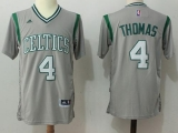Boston Celtics #4 Isaiah Thomas Gray Pride Stitched NBA Jersey