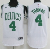 Boston Celtics #4 Isaiah Thomas White Stitched NBA Jersey