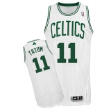 Boston Celtics #11 Jayson Tatum White Stitched NBA Jersey