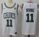 Nike Boston Celtics #11 Kyrie Irving White Stitched NBA Jersey