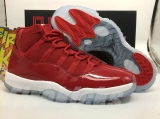 "(SALE)(The best version with Tag on Box and dust bag)Authentic Air Jordan 11 ""Gym Red""(right version with fluorescent light)"