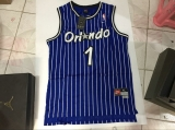 Orlando Magic #1 Penny Hardaway Stitched Blue Throwback NBA Jersey