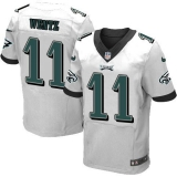 Nike Philadelphia Eagles #11 Carson Wentz White Men\'s Stitched NFL New Elite Jersey