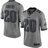 Nike Philadelphia Eagles #20 Brian Dawkins Gray Men\'s Stitched NFL Limited Gridiron Gray Jersey