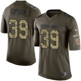 Nike Cleveland Browns #39 Tashaun Gipson Green Men\'s Stitched NFL Limited Salute to Service Jersey