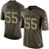 Nike Cleveland Browns #55 Alex Mack Green Men\'s Stitched NFL Limited Salute to Service Jersey