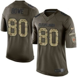 Nike Cleveland Browns #80 Dwayne Bowe Green Men\'s Stitched NFL Limited Salute to Service Jersey