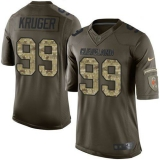 Nike Cleveland Browns #99 Paul Kruger Green Men\'s Stitched NFL Limited Salute to Service Jersey