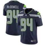 Nike Seahawks #94 Malik McDowell Steel Blue Team Color Men\'s Stitched NFL Vapor Untouchable Limited Jersey