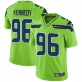 Nike Seahawks #96 Cortez Kennedy Green Men\'s Stitched NFL Limited Rush Jersey