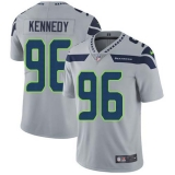 Nike Seahawks #96 Cortez Kennedy Grey Alternate Men\'s Stitched NFL Vapor Untouchable Limited Jersey
