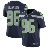 Nike Seahawks #96 Cortez Kennedy Steel Blue Team Color Men\'s Stitched NFL Vapor Untouchable Limited Jersey