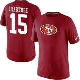 Nike San Francisco 49ers #15 Michael Crabtree Name & Number NFL T-Shirt Red
