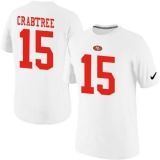 Nike San Francisco 49ers #15 Michael Crabtree Pride Name & Number NFL T-Shirt White