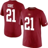 Nike San Francisco 49ers #21 Frank Gore Pride Name & Number NFL T-Shirt Red