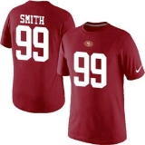 Nike San Francisco 49ers #99 Aldon Smith Pride Name & Number NFL T-Shirt Red