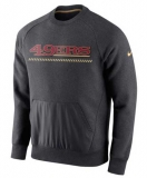 San Francisco 49ers Nike Championship Drive Gold Collection Hybrid Performance Fleece Sweatshirt - Charcoal
