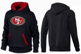 San Francisco 49ers Logo Pullover Hoodie Black & Red