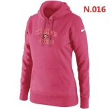 Women\'s Nike San Francisco 49ers Heart & Soul Pullover Hoodie Pink