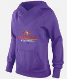 Women\'s San Francisco 49ers Big & Tall Critical Victory Pullover Hoodie Purple