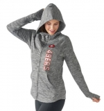 Women\'s San Francisco 49ers G-III 4Her by Carl Banks Recovery Full-Zip Hoodie - Heathered Gray