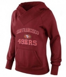 Women\'s San Francisco 49ers Heart & Soul Pullover Hoodie Red