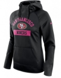 Women\'s San Francisco 49ers Nike Breast Cancer Awareness Circuit Performance Pullover Hoodie - Black