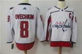 Washington Capitals #8 White NHL Jersey