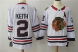 Chicago Blackhawks #2 white NHL Jersey (7)