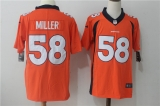 NFL Denver Broncos #58 orange Jerseys (2)