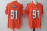 Miami Dolphins #91 orange  NHL Jersey (10)
