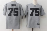 Oakland Raiders #75 Grey NFL Jersey (9)