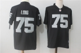 Oakland Raiders #75 Black NFL Jersey (19)
