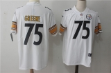 Pittsburgh Steelers #75 White NFL Jerseys (37)