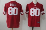 San Francisco 49ers #80 Red NFL Jersey (8)
