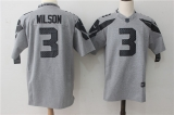 Seattle Seahawks #3 Grey NFL Jersey (2)