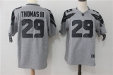 Seattle Seahawks #29 Grey NFL Jersey (17)