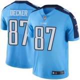 Nike Titans #87 Eric Decker Light Blue Men\'s Stitched NFL Limited Rush Jersey