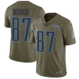 Nike Titans #87 Eric Decker Olive Men\'s Stitched NFL Limited 2017 Salute to Service Jersey