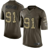 Nike Titans #91 Derrick Morgan Green Men\'s Stitched NFL Limited Salute to Service Jersey