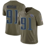 Nike Titans #91 Derrick Morgan Olive Men\'s Stitched NFL Limited 2017 Salute to Service Jersey