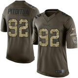 Nike Titans #92 Ropati Pitoitua Green Men\'s Stitched NFL Limited Salute to Service Jersey