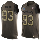 Nike Titans #93 Kevin Dodd Green Men\'s Stitched NFL Limited Salute To Service Tank Top Jersey