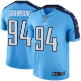 Nike Titans #94 Austin Johnson Light Blue Men\'s Stitched NFL Color Rush Limited Jersey
