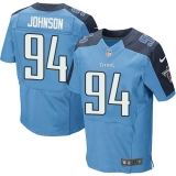 Nike Titans #94 Austin Johnson Light Blue Team Color Men\'s Stitched NFL Elite Jersey