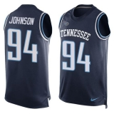 Nike Titans #94 Austin Johnson Navy Blue Alternate Men\'s Stitched NFL Limited Tank Top Jersey