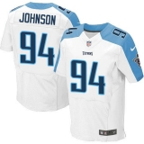 Nike Titans #94 Austin Johnson White Men\'s Stitched NFL Elite Jersey