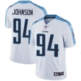 Nike Titans #94 Austin Johnson White Men\'s Stitched NFL Vapor Untouchable Limited Jersey