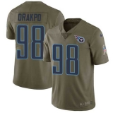 Nike Titans #98 Brian Orakpo Olive Men\'s Stitched NFL Limited 2017 Salute to Service Jersey